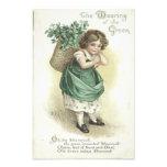 Shamrock Wearing Of The Green Victorian Girl Photo Print