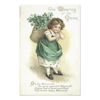 Shamrock Wearing Of The Green Victorian Girl Photo Print