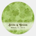 Shamrock Wedding Stickers