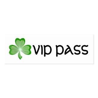 Shamrock White 'VIP PASS' business card skinny
