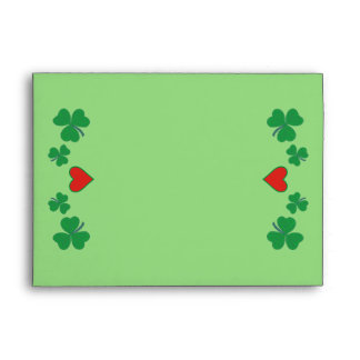 Shamrock with heart A7 Greeting Card Envelope