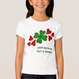 Shamrock with hearts cute top for kids