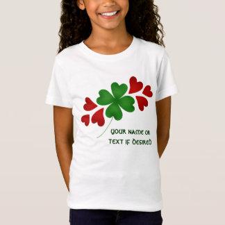 Shamrock with hearts kids T-Shirt