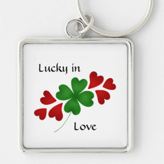 Shamrock with hearts, Lucky in Love Keychain