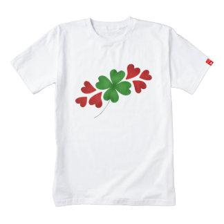 Shamrock with hearts St Patricks Day Zazzle HEART T-Shirt