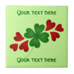 Shamrock with hearts tiles