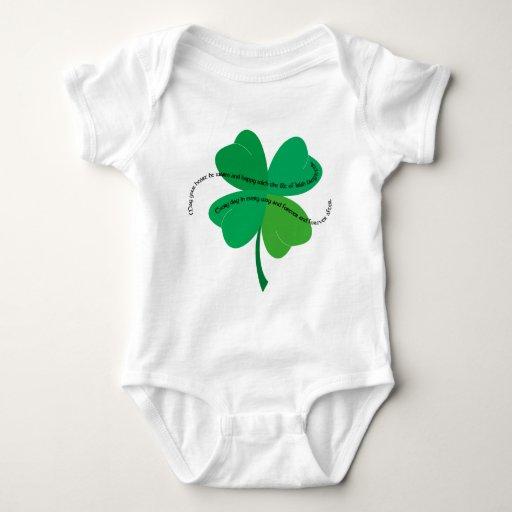 Shamrock with Irish Toast Baby Bodysuit