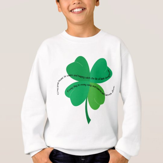 Shamrock with Irish Toast Sweatshirt