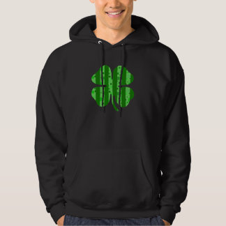 Shamrock with stripes.png hooded pullovers