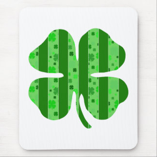 Shamrock with stripes.png mouse pad