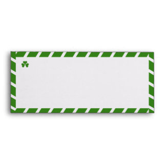 Shamrock with Thick Green Airmail Stripes #10 Envelope