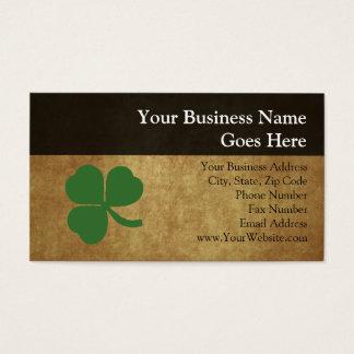 Shamrock with Vintage Gold Business Card