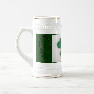 SHAMROCK WITH WHIPS BEER STEIN