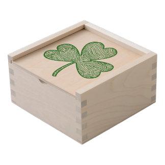 Shamrock Wooden Keepsake Box
