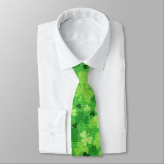 "Shamrock ""Woven Cloth"" St. Patrick's Day Tie"