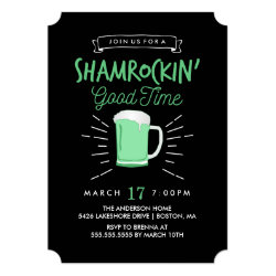 Shamrockin' Good Time St. Patrick's Day Invite