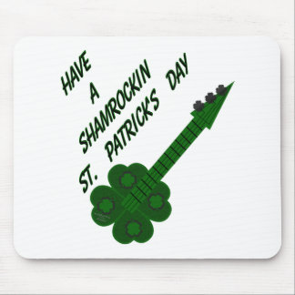 Shamrockin Guitar for St. Patrick's Day Mouse Pad