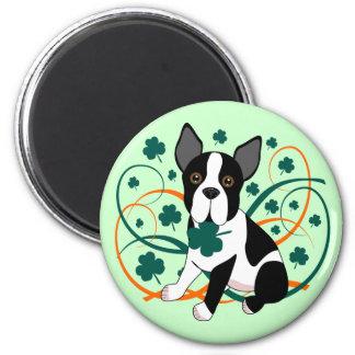 Shamrockin'  Terrier 2 Inch Round Magnet