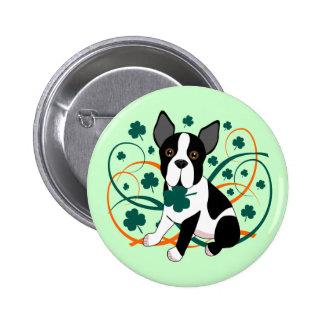 Shamrockin'  Terrier Pinback Buttons
