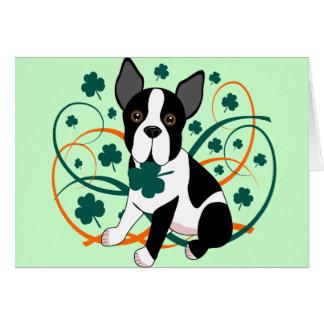 Shamrockin'  Terrier Card