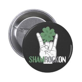ShamRockOn 2 Inch Round Button