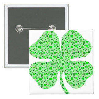 Shamrocks 4 leaf clovers.png pinback buttons