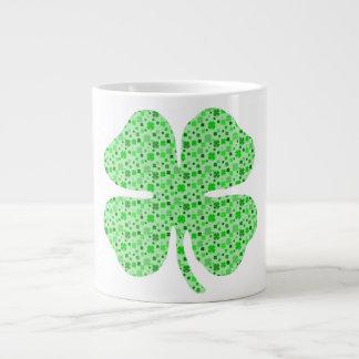 Shamrocks 4 leaf clovers.png jumbo mugs