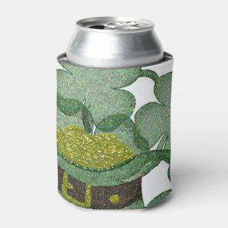 shamrocks and a hatful of gold for Saint Patricks Can Cooler
