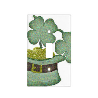 shamrocks and a hatful of gold for Saint Patricks Light Switch Covers