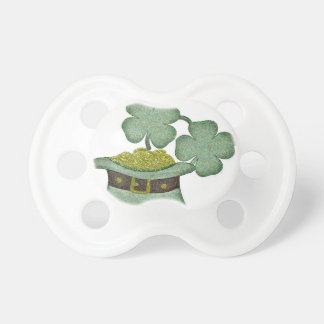 shamrocks and a hatful of gold for Saint Patricks Pacifier