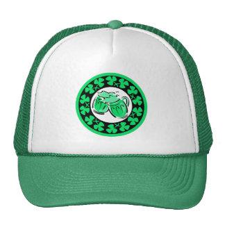 shamrocks and beer mesh hats