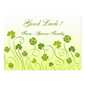 Shamrocks and clovers large business cards (Pack of 100)