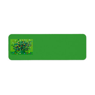 Shamrocks and Flowers and Chicks Label