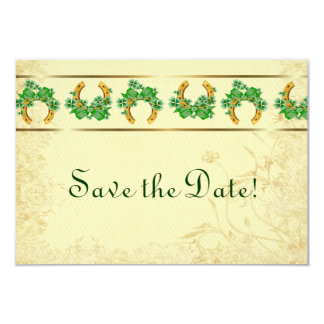 Shamrocks and Gold Irish Save The Date Card