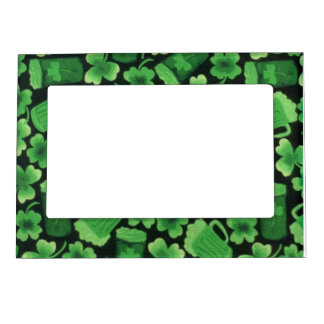 Shamrocks and Green Beers Magnetic Photo Frame