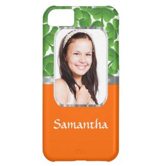Shamrocks and orange cover for iPhone 5C