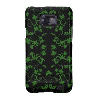 Shamrocks and Swirls Galaxy S Case Samsung Galaxy S2 Cover