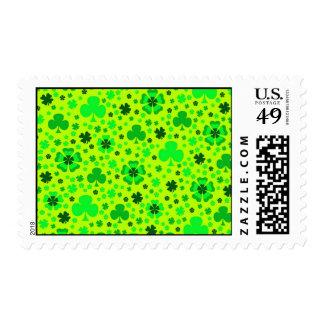 Shamrocks & Clover St. Patrick's Day Postage Stamp