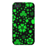 Shamrocks & Clovers iPhone 4 Case