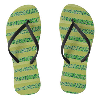 Shamrocks Design Flip Flops