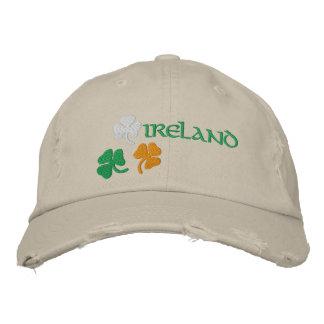 Shamrocks Embroidered Hat