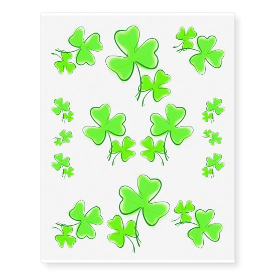 Shamrocks for St Patricks Day - skin decoration Temporary Tattoos