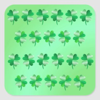 Shamrocks Glossy Stickers