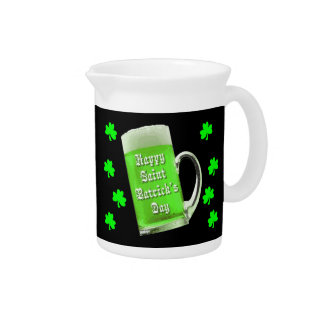 Shamrocks & Green Ale St. Patrick's Day Beverage Pitcher