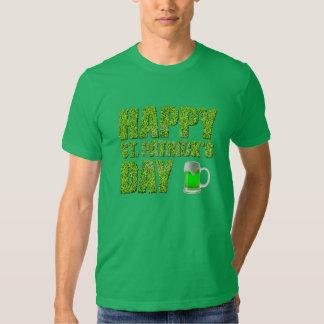 Shamrocks & Green Beer Happy St. Patrick's Day T-shirt