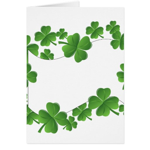Shamrocks Greeting Cards
