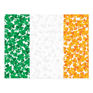 Shamrocks in a Flag Postcard