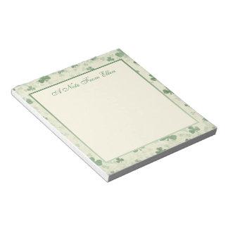 Shamrocks in the Mist Notepad