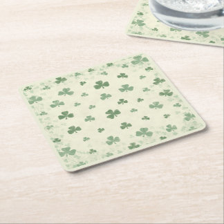 Shamrocks in the Mist Square Paper Coaster