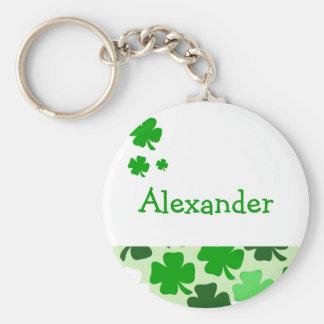 SHAMROCKS Irish Favor or Name Tag Keychain